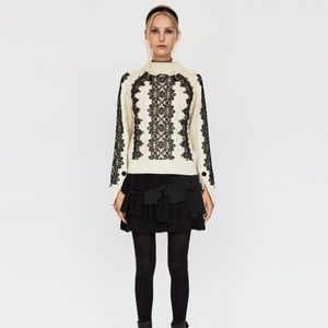Beautiful Cable Knit sweater with lace from Zara